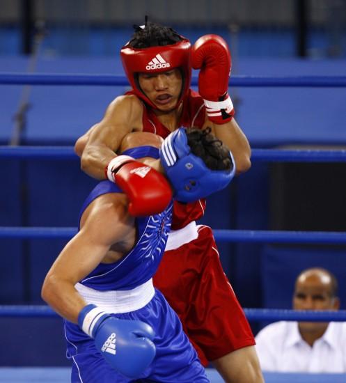 图文-[武搏会]孟繁龙获81公斤级冠军孟繁龙占优势