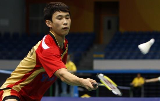 图文-羽毛球全国团体锦标赛赛况江苏选手汤振宁