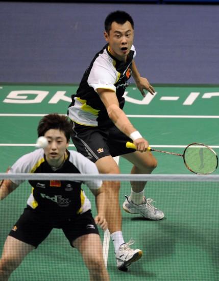 图文-羽毛球大师赛混双徐晨于洋完败屈居亚军