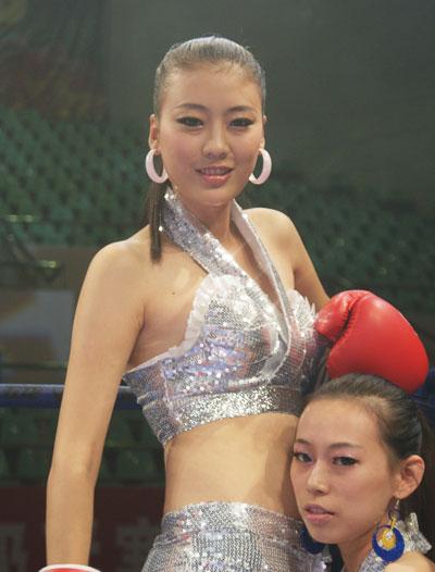 图文-武术散打超级联赛佳人助阵红粉也爱拳套