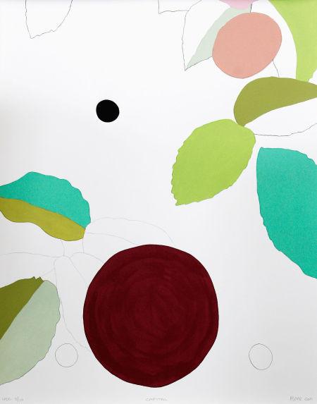 色块拼接墙体手绘