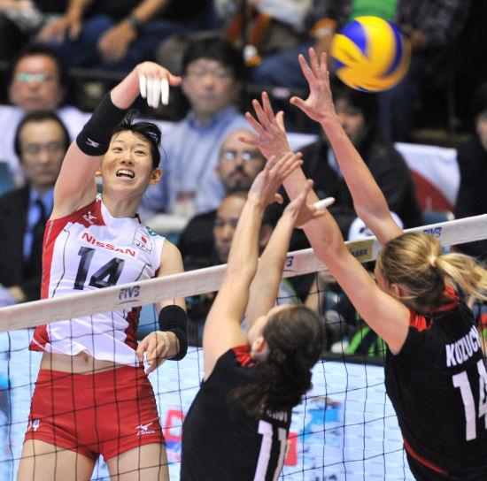 日本队双人拦网
