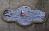 冬泳爱好者王府池子畅游