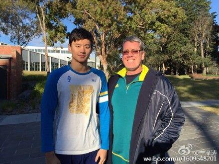 宁泽涛与布朗教练