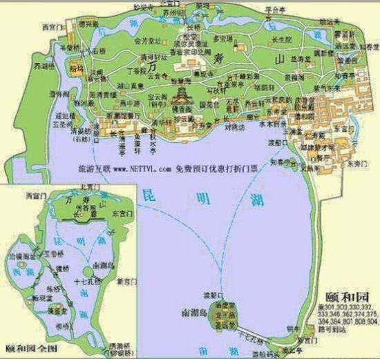 简介:   颐和园:中国现存规模最大、保存最完整的皇家园林,中国四大名园(另三座为承德避暑山庄、苏州拙政园、苏州留园)之一。位于北京市海淀区,距北京城区十五公里,占地约二百九十公顷。利用昆明湖、万寿山为基址,以杭州西湖风景为蓝本,汲取江南园林的某些设计手法和意境而建成的一座大型天然山水园,也是保存得最完整的一座皇家行宫御苑,被誉为皇家园林博物馆。绕昆明湖一周大概6-7公里。 昆明湖景色一。