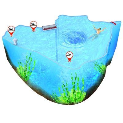 紫霞湖剖面图