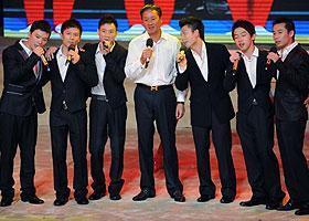 北京奧運男團冠軍成員