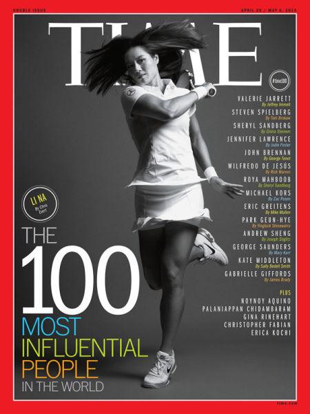李娜登陆《时代》杂志封面