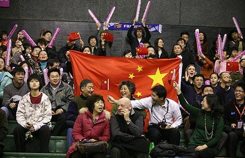 图文-联合会杯首轮中国队1-0法国队大批中国球迷