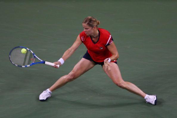 图文-美网女单半决赛经历争议一幕小克劈叉击球