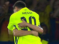 路易斯处子球梅西创纪录 巴黎3-2险胜巴萨