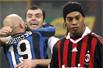 意甲斯内德争议红牌小罗失点球 9人国米2-0米兰
