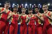 体操世锦赛-中国男团力压日本夺四连冠
