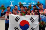 韩国队集体合影