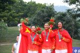 中国队高尔夫女团夺银
