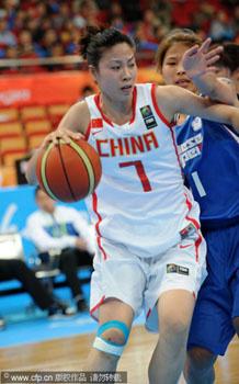 张伟爆发女篮大胜中华台北进决赛将与韩国争冠军