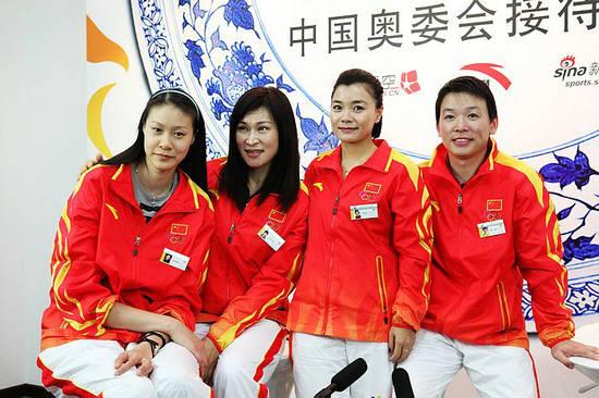 世界冠军参观中国奥委会接待中心