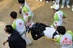 亚运现代五项选手坠马重伤头颈重摔在地已送医院