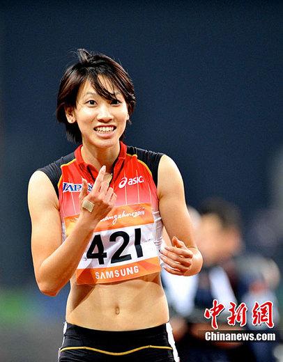 日本选手福岛千里。