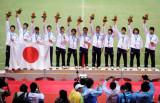 日本队开心夺冠