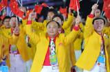 中国向观众致意