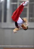 中国选手吕博在比赛中