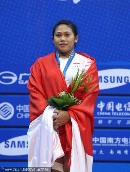 印尼选手摘得银牌