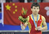 展示金牌和鲜花