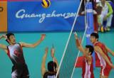 日本队球员扣球