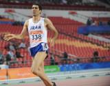 伊朗选手第二个撞线