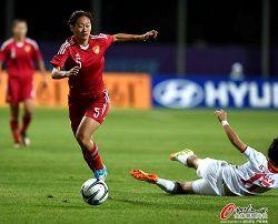 亚运会-杨丽四球中国女足5-0约旦八强战碰朝鲜