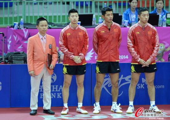 国乒三剑客:马龙、张继科、许昕