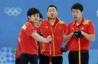男子冰壶铜牌战中国负瑞典 中国队四位队员